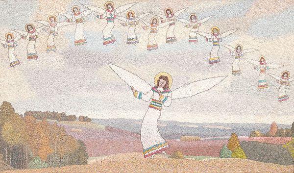 Ангелы в небе.